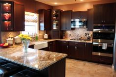 kitchen cabinets steel espresso cabinets white quartz and crystals interiors by 3248