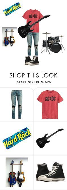 """""""Untitled #15"""" by rosshandmadecrafts ❤ liked on Polyvore featuring Yves Saint Laurent, Gap, Yamaha, Converse, men's fashion and menswear"""