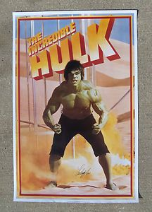 Incredible Hulk LOU FERRIGNO Signed Autographed Poster COA! PROOF! THE AVENGERS! | eBay
