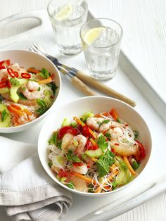 Salade Thaï aux crevettes : la recette - The Best Asian Recipes Healthy Cooking, Healthy Eating, Cooking Recipes, Asian Kitchen, Vegetarian Recipes, Healthy Recipes, Asian Recipes, Ethnic Recipes, India Food