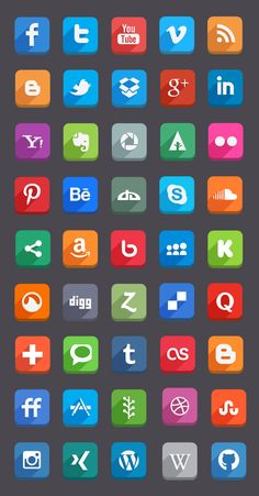 DOWNLOAD PSD: 45 vector shaped PSD of the social media icons. well organized names. Enjoy it...  #UI #UX #PSD #vector #design #web #icons #buttons #social #media #communication #icondesign #socialmedia #free #flat #longshadow #webdesign