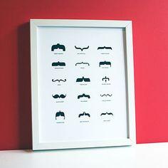 Famous moustache print
