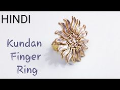 How To Make Designer Finger Ring at Home l Kundan Finger Ring l In Hindi Silk Thread Jhumkas, Silk Thread Bangles Design, Silk Thread Earrings, Thread Jewellery, Handmade Jewellery, Jewelry Making Tutorials, Jewellery Making, Diy Crafts And Hobbies, Flip Flop Craft