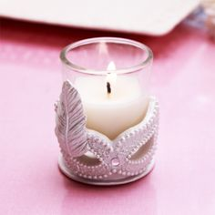 Masquerade Mask Candle Favor - Sweet Sixteen Favors - Other Occasions - Wedding Favors & Party Supplies - Favors and Flowers