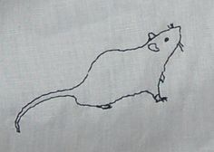 rat embroidery by Matmor