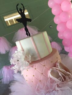 Amazing cake at a ballerina birthday party! See more party planning ideas at CatchMyParty.com!
