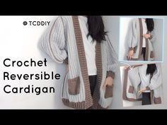 It's for our beloved reversible cardigan now with proper yarn measurements and pattern! Crochet Patterns Free Women, Crochet Patterns For Beginners, Free Crochet, Beginner Crochet, Crochet Top, Cardigan Pattern, Jacket Pattern, Crochet Cardigan, Crochet Sweaters