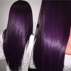 plum hair color – Hair Color Purple Hair: How to Dye Hair in Purple 65 Awesome Blue Hair Color Ideas Violet Hair Colors, Hair Color Purple, Hair Dye Colors, Cool Hair Color, Plum Color, Two Color Hair, Colour, Deep Purple Hair, Dark Violet Hair
