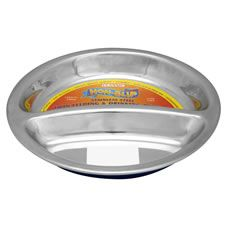 Classic Pet Products Non-Slip Stainless Steel Twin Feeding and Drinking Pet Dish 240ml