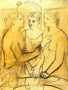 Three Women at the Fountain #2, 1921. By Pablo Picasso (Spain 1881-1973).