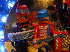 Der Gitarist Floyd Pepper und Dr, Goldzahn der Kopf der Electric Mayhem aus hendsons Muppetshow