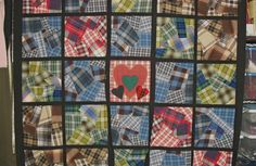 Crazy plaid quilt - I think this would have been so much nicer without the dark sashing.