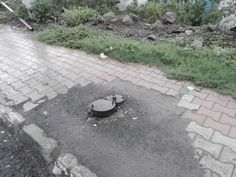 Protruding Pipeline on footpath- Pashan road
