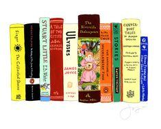 "Custom painted illustrations of your ""Ideal Bookshelf"""