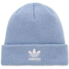 92f951c02ba3a adidas Originals Trefoil Knit Beanie (1.155 RUB) ❤ liked on Polyvore  featuring accessories