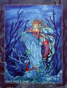 Sea Dragon Mermaid by MisticUnicorn on DeviantArt Bullet Journal Inspo, Junk Journal, Mermaid Artwork, Mermaid Illustration, Sea Dragon, World Photo, Merfolk, Fantasy Creatures, Mythology