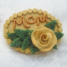 MOM Rose Pin  B056 by artsdaughter on Etsy - Mother's Day Gift Idea #mothersday #gift