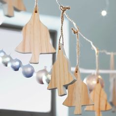 Wooden Christmas ornaments have a Nordic feel. Get decorating ideas for Christmas from Ikea.
