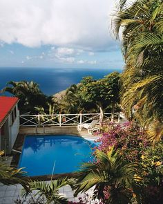 Saba's coast is so steep and rocky that there are no beaches, making pools like this one at El Momo lodge the place to cool off