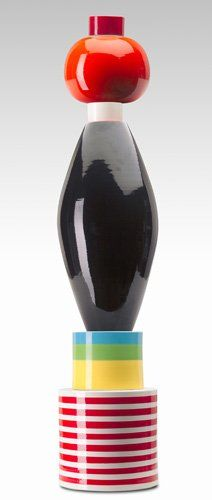 Lot:135C: ETTORE SOTTSASS/MEMPHIS Six-piece ceramic totem. , Lot Number:135C, Starting Bid:$5000, Auctioneer:Rago Modern Auctions, LLP, Auction:135C: ETTORE SOTTSASS/MEMPHIS Six-piece ceramic totem. , Date:05:00 AM PT - Apr 22nd, 2006