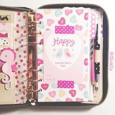 filoally: My Valentine's Day dashboard from @peppermintdoxiedesigns is here! It's super cute! #katespade #katespadeagenda #katespadeplanner #katespadewellesley #kikkik #filofax #planner #prettyplanners