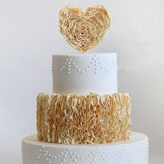 Ruffle Wedding Cake- Style Sweet CA
