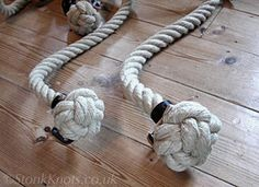 stair ropes-24mm and 32mm hemp with 2 ply end knots