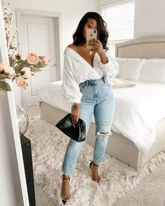 Cute Casual Outfits, Casual Chic, Stylish Outfits, Fashion Outfits, Spring Summer Fashion, Spring Outfits, Moda Outfits, Looks Chic, Black Girl Fashion