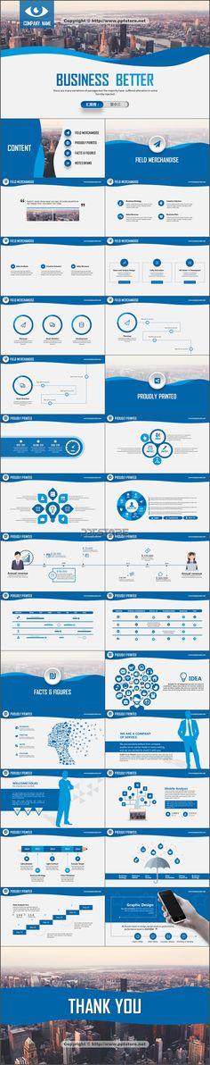 【【给力PPT】实用商务蓝品牌高品质模板PPT模板】-PPTSTORE