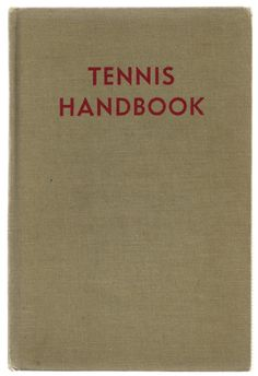 Tennis Handbook - Vintage Sports Instruction Tennis Rules Book $8.00