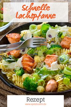 Fast salmon pan - No time? No problem! The recipe for this wonderful salmon pan not only tastes great, but is also qu - Side Recipes, Dinner Recipes, Drink Recipes, Tasty Meal, Grilled Teriyaki Salmon, Tatyana's Everyday Food, Side Dishes For Chicken, Salmon And Rice, Chicken Recipes Video