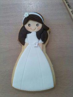 Galleta comunión Las dulces recetas de Mari en fondant (2014)