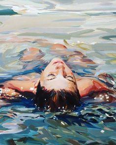 Water Reflections, Human Art, Human Condition, Summer Art, Life Drawing, Art Girl, Art Inspo, Contemporary Art, Abstract Art