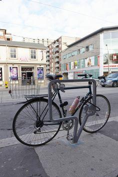 Toronto, running circles around NYC on the design of cool bike racks: Queen-West-Bike-Racks-3