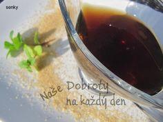 Recept Mátový sirup - Naše Dobroty na každý den Red Wine, Alcoholic Drinks, Pudding, Desserts, Food, Syrup, Tailgate Desserts, Deserts, Custard Pudding