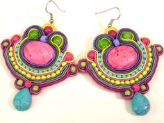 Soutache earrings by olaboga on Etsy. $25.00, via Etsy.