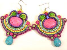 Soutache earrings by olaboga on Etsy. $25.00, via Etsy.