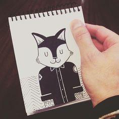 Pablo Contreras. -- Señor Gato ✏️ #illustration #drawing #black #cat #dibujo