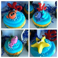 Under the sea themed cupcakes
