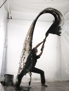 """""""Self-Portrait"""", capturing inked water in movement by photograph Chinichi Maruyama, 2006"""