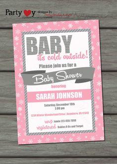 Winter Baby Shower Invitation Baby It's by PartyInvitesAndMore, $10.00