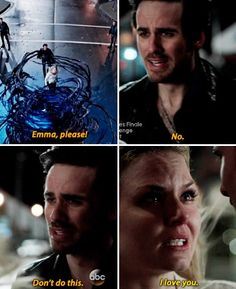 Emma said those 3 little words to Killian !