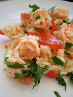 Risotto de Camarão ao Leite de Coco | Figos & Funghis Brazillian Food, Pizza And More, Tasty, Yummy Food, Cooking Recipes, Healthy Recipes, Portuguese Recipes, My Favorite Food, Street Food