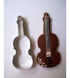 Hegedű sütikiszúró forma, sütemény kiszúró. Mézeskalács formák - több mint 200 féle raktárról - a gasztroajándék webáruházban, gyere nézd meg Te is! Violin, Music Instruments, Gifts, Presents, Musical Instruments, Favors, Gift