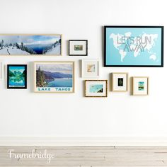 Remind yourself of your favorite travel adventures everyday with a lovely gallery wall.