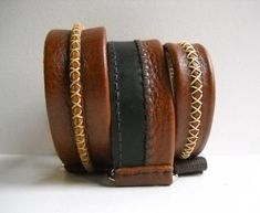 Handmade Leather Collars by Zumo, SEEN AT DOG-MILK.COM Dog Collars & Leashes, Leather Dog Collars, Dog Pounds, Dog Milk, Large Dog Breeds, Stitching Leather, Collar And Leash, Cat Design, Handmade Leather