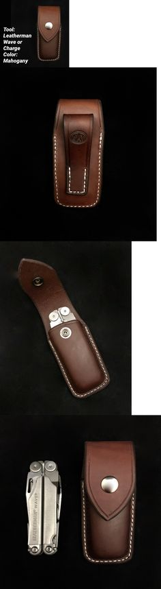 Pocket Multi Tools 75236: Custom Leather Mahogany Case Sheath For The Leatherman Wave Charge Closed Top -> BUY IT NOW ONLY: $31 on eBay!