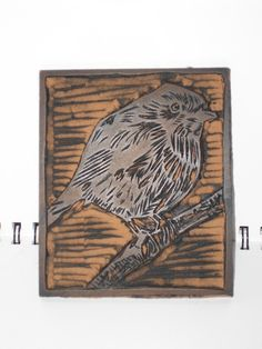 Items similar to Robin Lino Print Card (Black on Cream and Red) on Etsy Linocut Prints, Art Prints, Haida Art, Stamp Carving, Encaustic Painting, Chalk Pastels, Tampons, Wood Engraving, Aboriginal Art