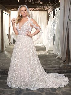 Wedding Dress 2354 Liliana by Casablanca Bridal - Search our photo gallery for pictures of wedding dresses by Casablanca Bridal. Find the perfect dress with recent Casablanca Bridal photos. Custom Wedding Dress, Wedding Dresses Plus Size, Plus Size Wedding, Bridal Wedding Dresses, Unique Dresses, Designer Wedding Dresses, Plus Size Brides, White Bridal, Bridal Lace