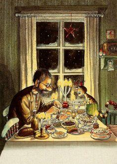 Weihnachtsessen bei Pettersson und Findus - Sven Nordqvist